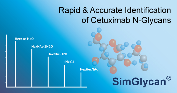 Identification of N-Glycans from Cetuximab (mAb) using LC/MS analysis with SimGlycan Software